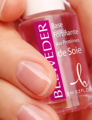 Лак укрепляющий БЕЛЬВЕДЕР для тусклых и хрупких ногтей с протеинами шелка