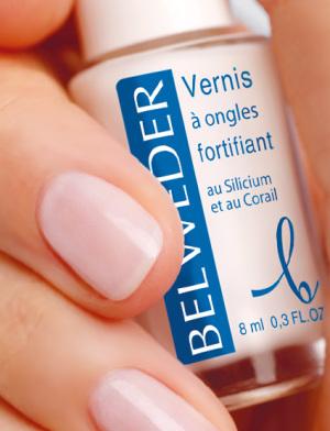 Лак для укрепления ногтей с кремнием и экстрактом кораллов Бельведер